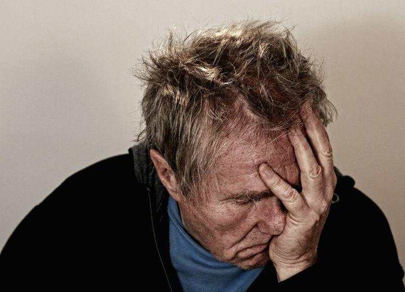 фото пожилого больного человека