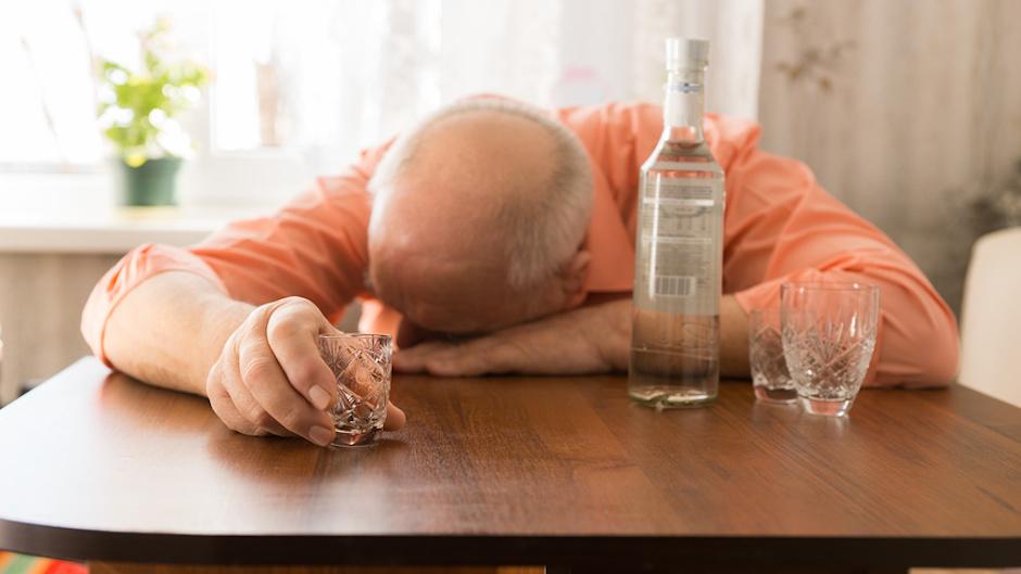 Фото пьяного пожилого человека